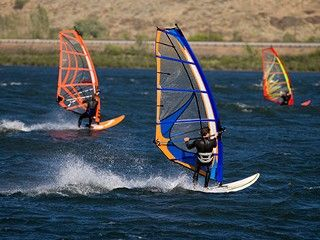 Windsurfing in Hood River, OR