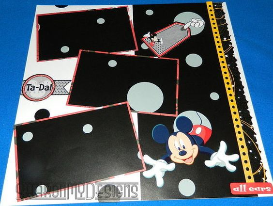 Mickey Mouse Handmade Double Page Scrapbook by SharonMyDesigns