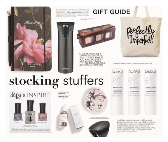 """""""Gift Guide: Stocking Stuffers"""" by katarina-blagojevic ❤ liked on Polyvore featuring beauty, Ted Baker, Defy & Inspire, Caudalíe, Contigo, Lily-Flame, Torrid and Alexis Bittar"""