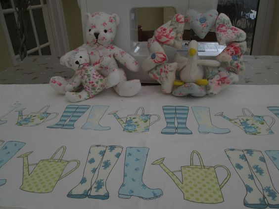 BN Scrumtious Ashley Wilde Cotton Duck Fabric In Wellingtons Elsie Spring