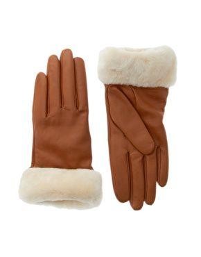 guantes cuero y piel oveja UGG