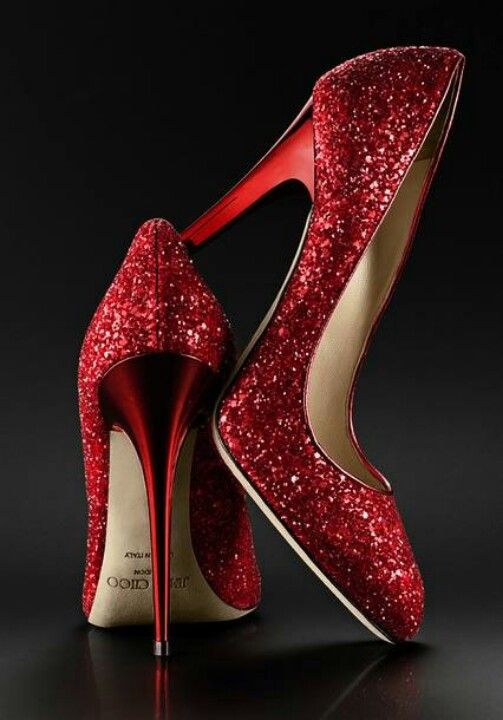 Red shiny Jimmy Choo heels. | Shoes | Pinterest | The o&39jays Dr