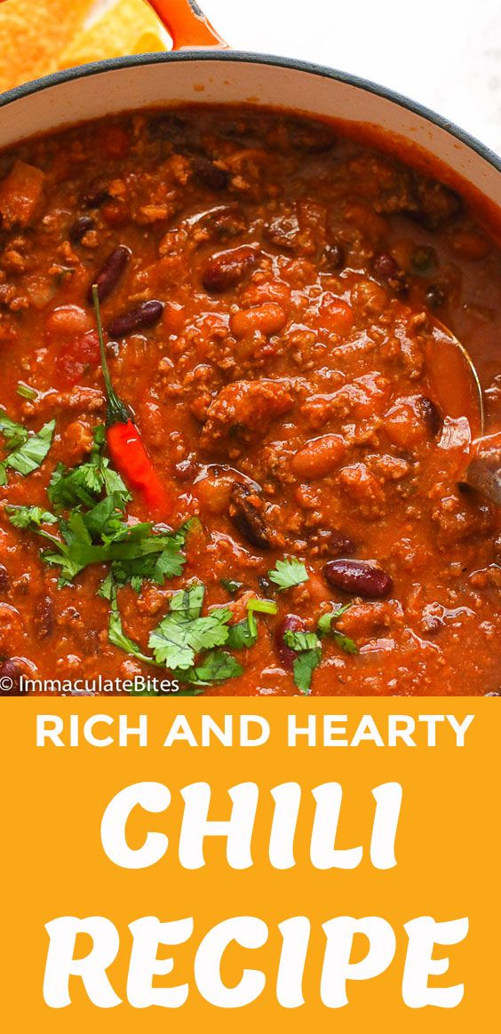 Chili Recipe Easy Spicy Stovetop Homemade Chilirecipe Dinner Beans Lowcarbrecipes Chili Recipes Chili Recipe Stovetop Recipes