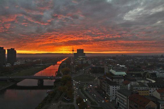 Sonnenaufgang in Mannheim