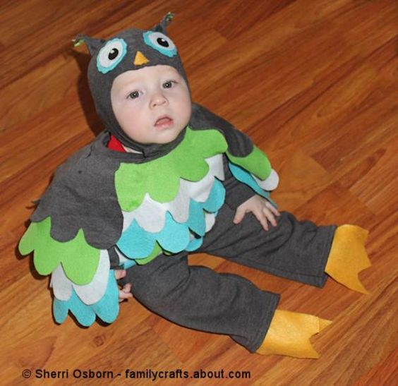 Follow along with this step-by-step tutorial and learn how you can make an adorable owl costume using a sweatsuit.: The Cutest Owl