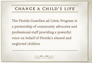 an introduction to the guardia ad litem program Thank you for considering volunteering for the second judicial circuit guardian ad litem program when you volunteer your time, skills, empathy and good judgment as a guardian ad litem, you become an invaluable advocate for a child.