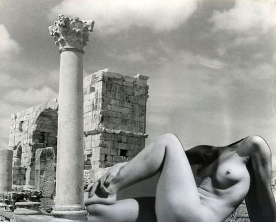 Pierre Boucher, Nude, Ruins of Volubilis, Morocco, 1936