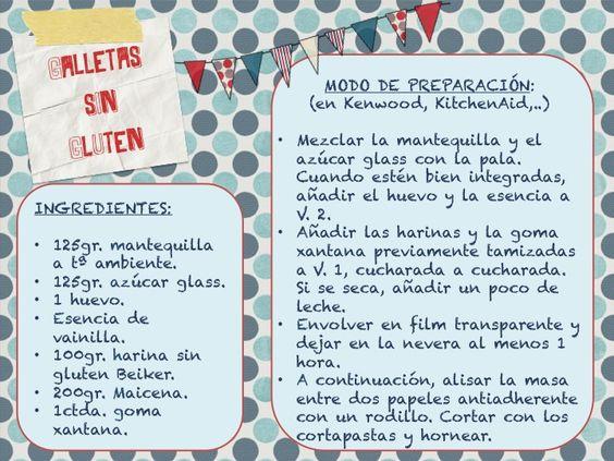 Receta galletas sin gluten: