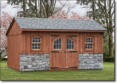 Storage sheds lancaster county barns quaker stone shed for Board and batten shed plans
