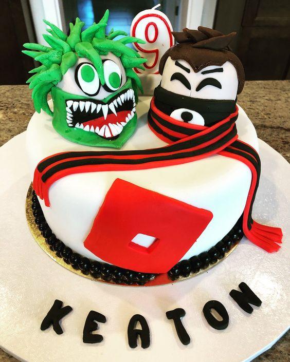Roblox Birthday Cake Kue