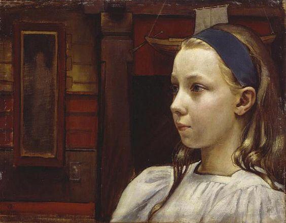 Gallen-Kallela,  Akseli  (Finnish, 1865-1931) - Little Anna  - 1899