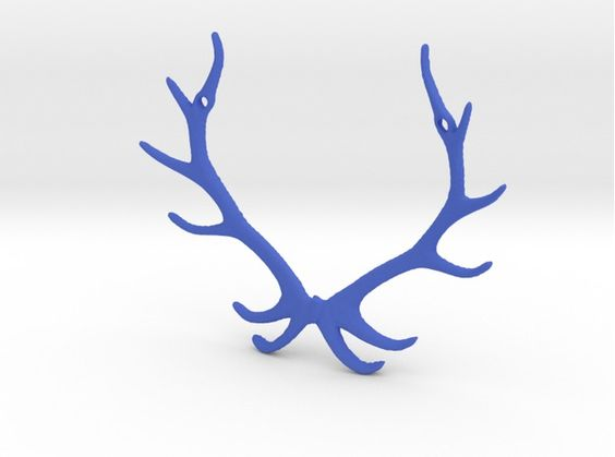 """*Reindear Pendant* This gorgeous """"Reindear"""" Pendant is for someone dear to your heart.#3dprint #3dprinting #deer #antlers"""
