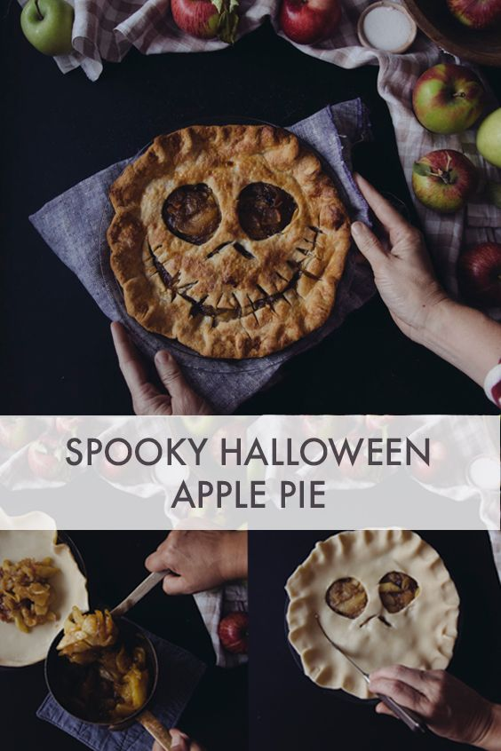 Spooky Halloween Apple Pie