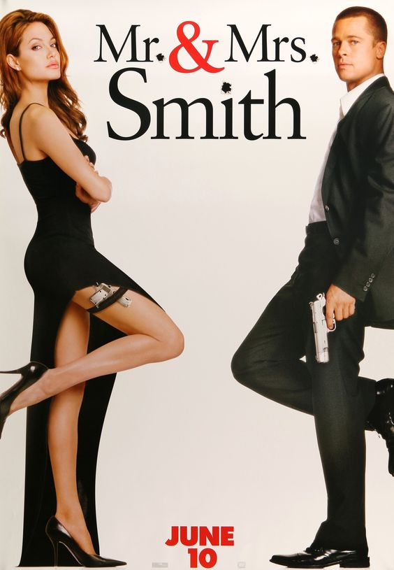 "Mr. and Mrs. Smith (2005) Vintage Advance Movie Poster - 27"" x 40"""