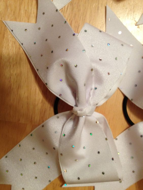Close up of NOGA cheer bows