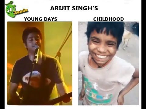 Arijit Singh S Young Days Vs Childhood Meme From Facebook Youtube Memes Childhood Funny Memes