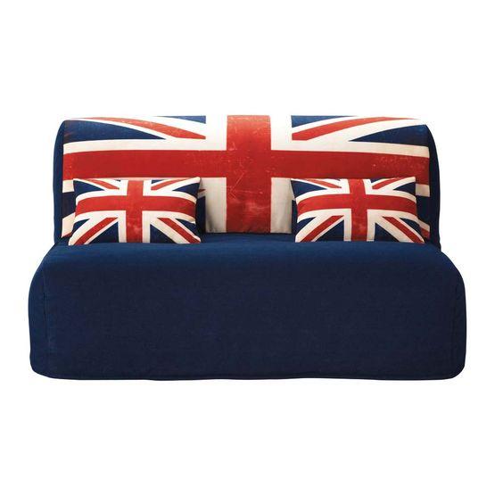 Fodera stampata in cotone per divano letto Union Jack Elliot
