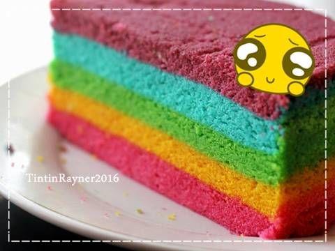 Resep Steamed Rainbow Cake Ny Liem Oleh Tintin Rayner Resep Kue Pelangi Kue Macaroon Kue Lezat