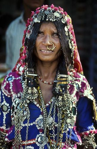 India | A colorful tribal lady in Andhara Pradesh. | © BoazImages: