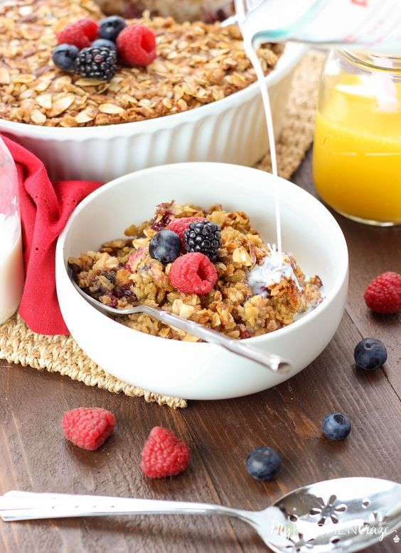 Berry Baked Oatmeal | Recipe | Baked Oatmeal, Berries and Oatmeal