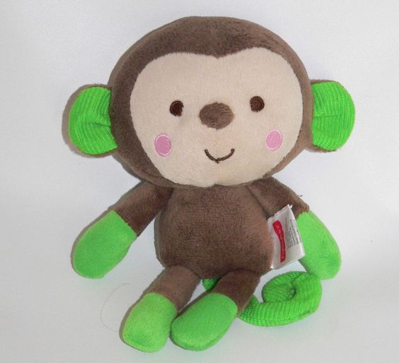 Target Baby Toys : Fisher price monkey brown neon green plush toy baby lovey