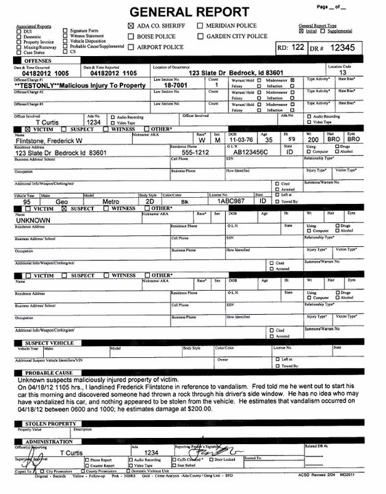 6 Best Images Of Blank Ticket Template Printable Free Police - mock police report