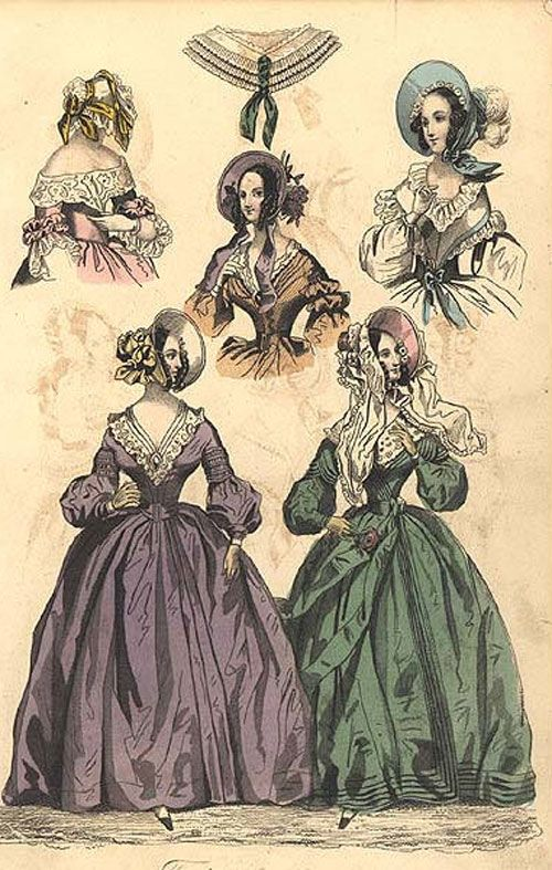 1840s dresses- fashion plate