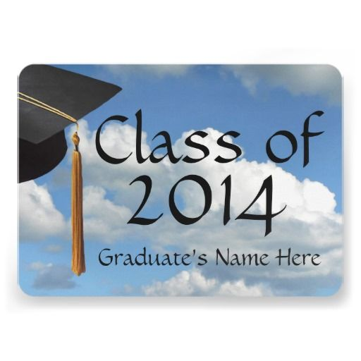 Blue Sky Graduation/Party Invitation Announcement, class of 2014