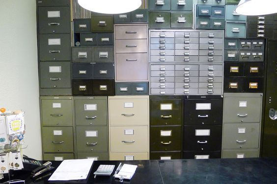 This is amazing! I want a filing wall!
