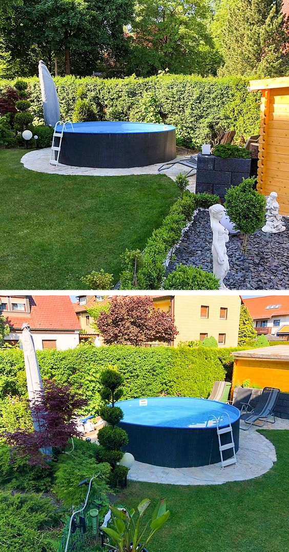 Ein Bisschen Kreativitat Ist Immer Gefragt Wenn Man Einen Stilvollen Garten Mit Swimmingpool Plant Dabei Gartenpools Schwimmbad Landschaftsbau Pool Im Garten