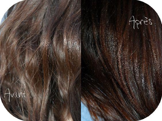 henn naturel maison avec le caca marron de lush pour des cheveux bruns aux reflets - Coloration Cheveux Naturelle Maison
