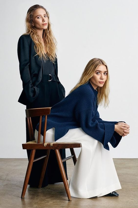 Olsens Anonymous Blog Mary Kate Ashley Olsen Twins Style Elizabeth And James SS17 Collection Minimalist Looks Blazer Pants Sweater Sandals Net A Porter: