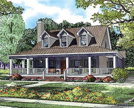 Plan 5921ND: Wonderful Wrap-Around Porch   Bonus rooms, Wraps and ...