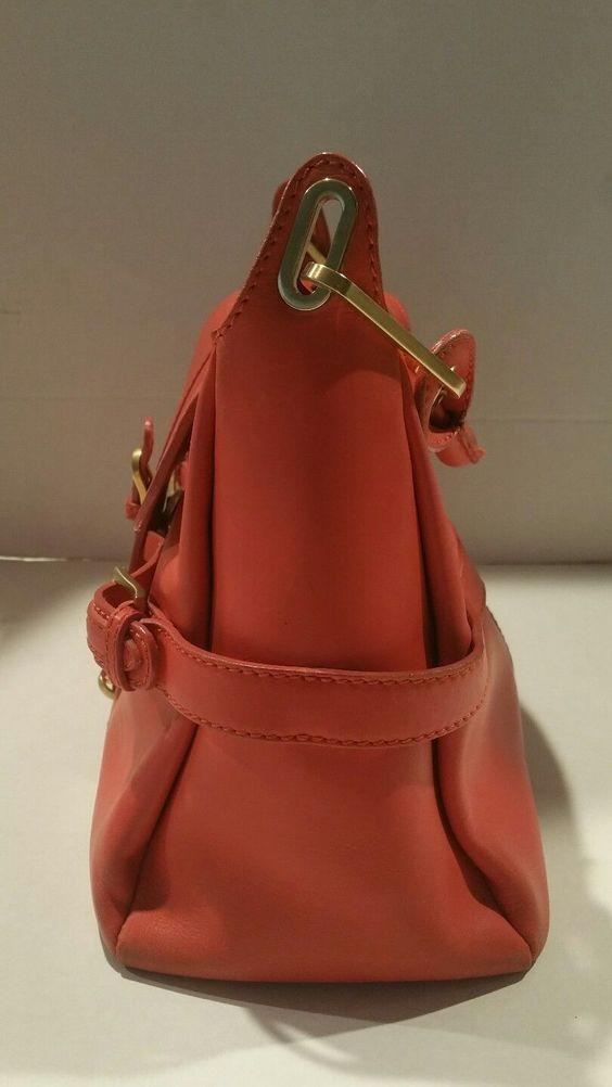 Used Jimmy Choo Tulita Rose Color Gold Buckle Purse Bag 14 11