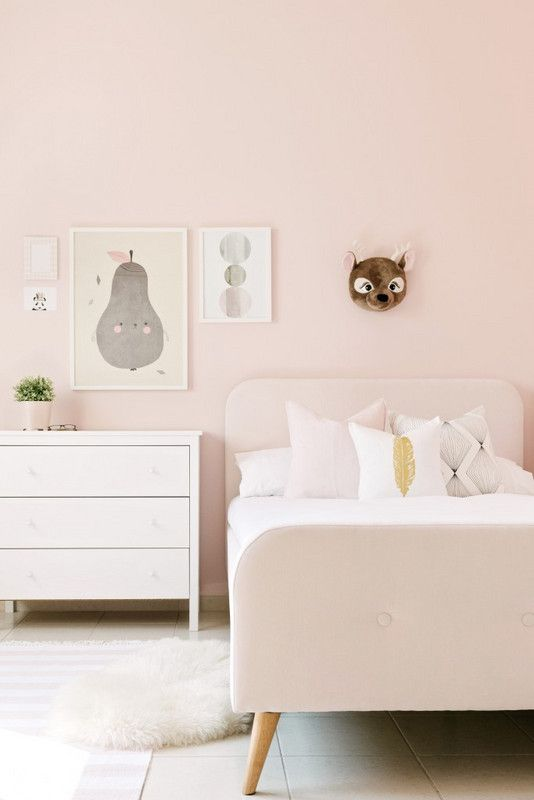 Monochrome Room Ideas Furniture That Matches Paint Color Pink Girl Room Girls Room Paint Pink Room