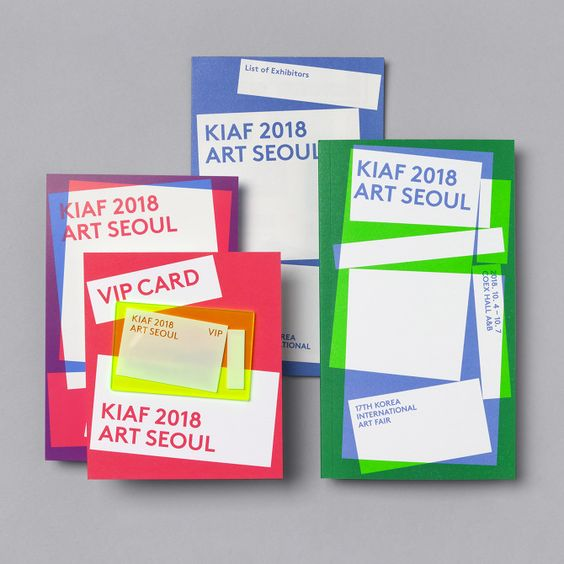 Studio fnt – Exhibition identity for KIAF 2018 (Korea International Art Fair)