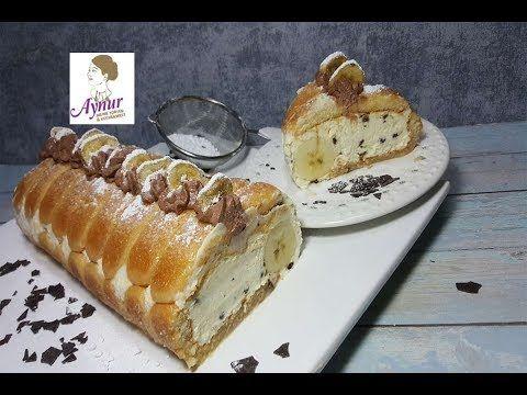 Leichter Bananenkuchen Ohne Backen I Kuchen Mit Loffelbiskuits I No Bake Cake Youtube Bananen Kuchen Kuchen Bananenkuchen