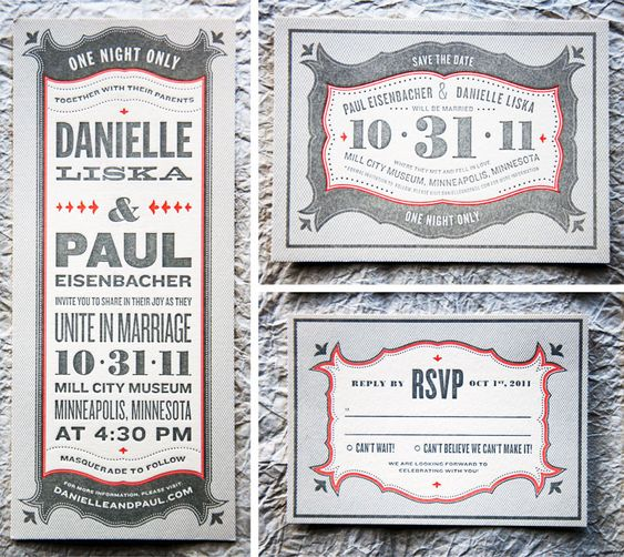 typography wedding announcement