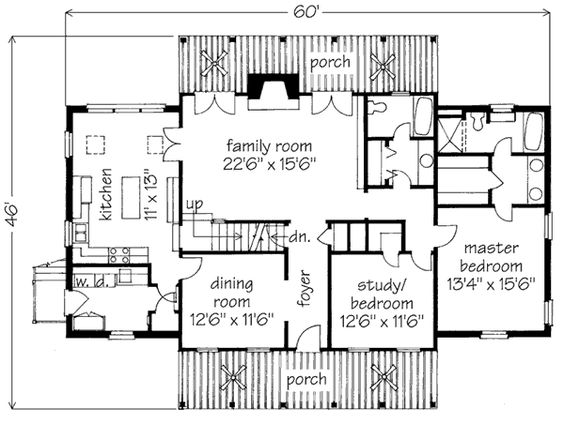 House plans southern living house plans and master bedrooms on pinterest - House plans with bonus rooms upstairs ...
