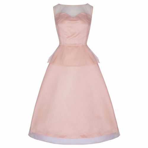 Lindy Bop 'Madison' Glamorous 50's Peach Vintage Style Prom Party Cocktail Dress