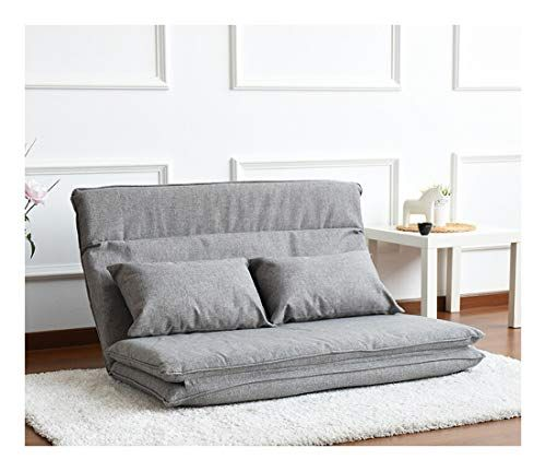 Lyqz Multifunctional Sofa Bed Lazy Couch Japanese Tatami Bedroom Study Double Folding Chair 132 197cm Color Gray