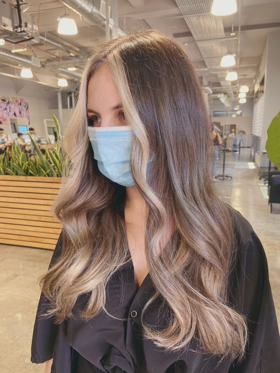 Dark To Blonde Balayage Hair Strong Money Piece In 2020 Hair Streaks Pink Hair Dye