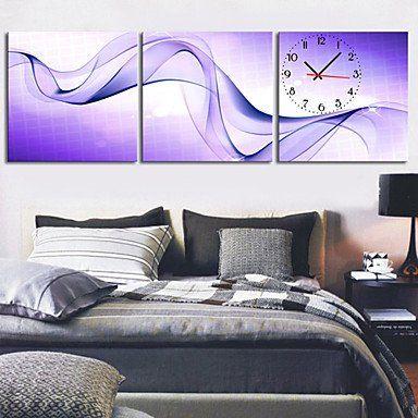 Long Dream modernen Stil landschaftlich Leinwand Wanduhr 3pcs K225 ,Wand Uhr Wanduhr Design Uhr Wanduhr Uhr Deko Wandtattoo Dekoration Uhren Wanduhr Design