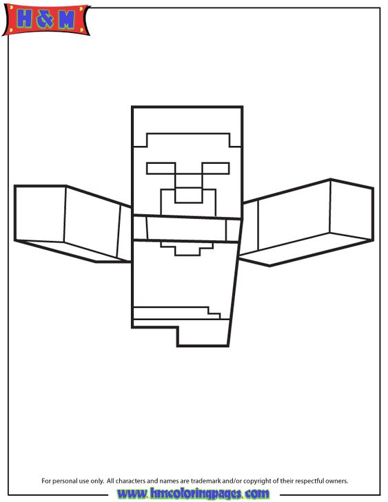 Minecraft Colouring Pages Online : Best images about herobrine coloring