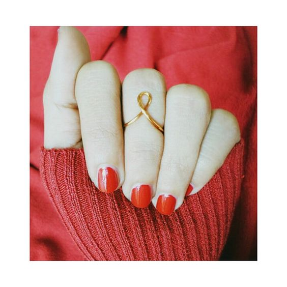 breast cancer awareness knuckle ring / ribbon by alittleisland