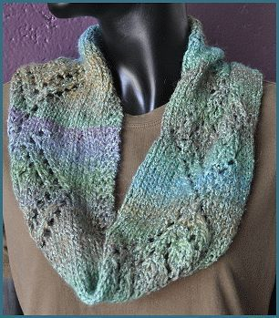 Monaco Diamond Lace Cowl - Crystal Palace Yarns - free cowl pattern Free Kn...