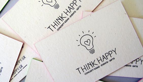 THINK HAPPY by Sophia Georgopoulou, via Behance