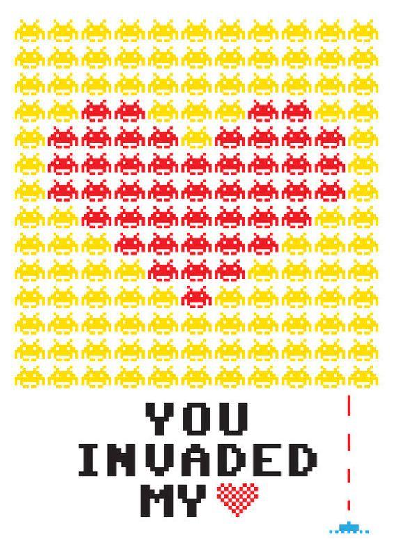 theawkwardgamer:    Print Typography Art Illustration Poster Yellow by PeanutoakPrint