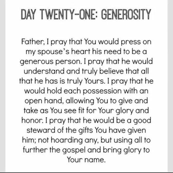 Day 21 of praying for your husband