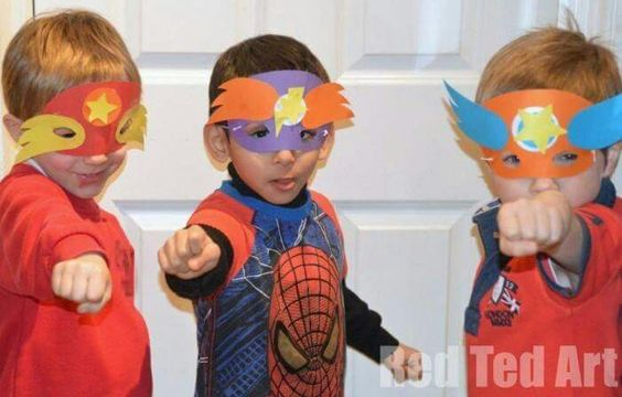 Are there SUPERHEROS in your house? Well, they will need their very own DIY Superhero Masks. Makes for a great party activity too! http://www.redtedart.com/superhero-mask-template-party-activity/
